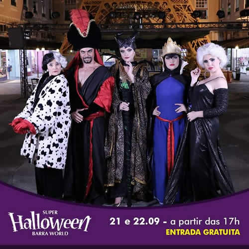 Shopping Barra World promete show de fantasias em Halloween antecipado